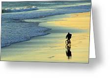 Beach Biker Greeting Card