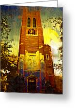 Beaumont Tower  Greeting Card by Paul Bartoszek