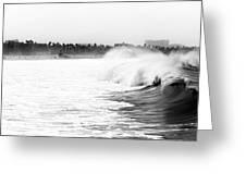 Big Surf At Santa Monica Greeting Card