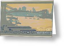 Brooklyn Bridge Late Afternoon Greeting Card