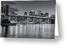 Brooklyn Bridge Twilight II Greeting Card by Clarence Holmes