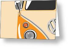 Camper Orange Greeting Card