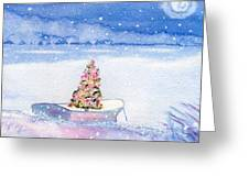 Cape Cod Christmas Tree Greeting Card