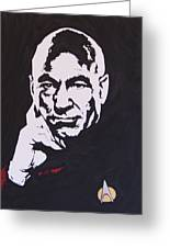 Captain Picard Greeting Card by Robert Epp