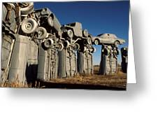 Carhenge In The Afternoon Greeting Card