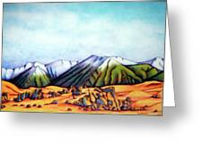 Castle Hill Si Nz Greeting Card by Barbara Stirrup
