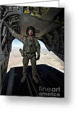 Ch-47 Chinook Crew Chief Stands Greeting Card