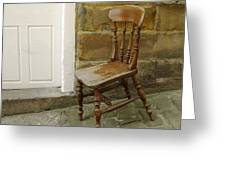 Chair And The Door Greeting Card