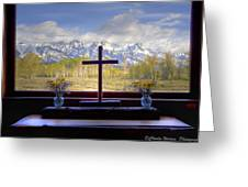 Chapel With A View Greeting Card by Charles Warren