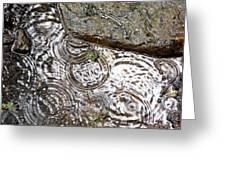 Circles Of Water Greeting Card