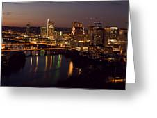 City Of Austin At Dusk Greeting Card