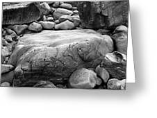 Coastal Granite In Black And White Greeting Card