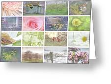 Collage Of Seasonal Images With Vintage Look Greeting Card