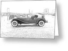 Convertible Antique Car Greeting Card