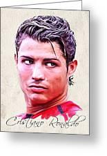 Cristiano Ronaldo Greeting Card by Wu Wei