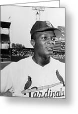 Curt Flood (1938- ) Greeting Card