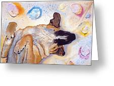 Dog Dreams Greeting Card
