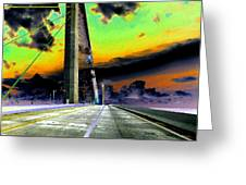 Dreaming Over The Skyway Greeting Card by David Lee Thompson