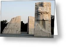 Early Morning At The Martin Luther King Jr Memorial - Washington Dc Greeting Card by Brendan Reals