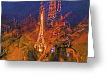 Eiffel On Bastille Day Abstract Greeting Card