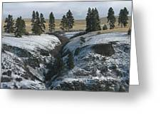 Elberton Cliffs In Winter Greeting Card