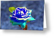 Electric Rose Greeting Card