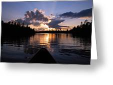 Evening Paddle On Spoon Lake Greeting Card