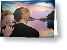 Figures In A Landscape Greeting Card