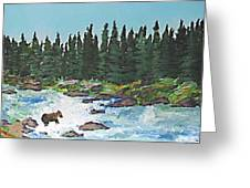 Fishing In Yellowstone National Park Greeting Card
