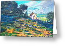 Flower Hill Greeting Card