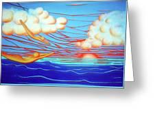 Flying Dream 3 Greeting Card by Barbara Stirrup