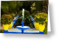 Fountain In Jardin Majorelle Morocco Greeting Card