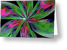 Funky Asterisk Greeting Card