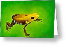 Golden Frog Of Supata Greeting Card by Sabina Espinet
