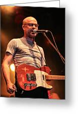 Gord Downie With Telecaster Greeting Card