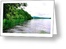 Green Lake Greeting Card