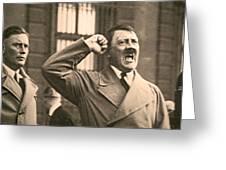 Hitler The Orator Greeting Card by Al Bourassa