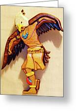 Intarsia Eagle Dancer Greeting Card by Russell Ellingsworth