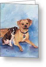 Jaz And Lily Greeting Card