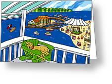 July 4th Snoozer - Cedar Key Greeting Card