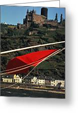 Katz Castle On Rhine Greeting Card