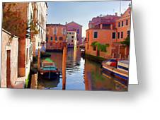 Late Afternoon In Venice Greeting Card