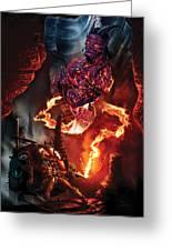 Lava Genie Greeting Card by Paul Davidson
