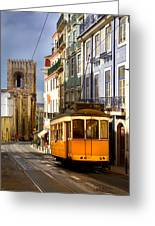 Lisbon Tram Greeting Card
