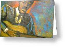Lonesome Blues Greeting Card
