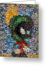 Marvin The Martian Mosaic Greeting Card