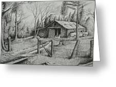 Ma's Barn And Truck Greeting Card