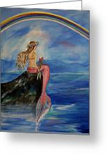 Mermaid Rainbow Wishes Greeting Card