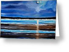 Midnight At The Beach Greeting Card
