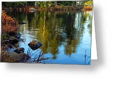 Morning Reflections On Chad Lake Greeting Card